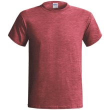 Gildan T-Shirt - Short Sleeve (For Men and Women) in Red Heather - 2nds