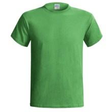 Gildan T-Shirt - Short Sleeve (For Men and Women) in Yellow Green - 2nds