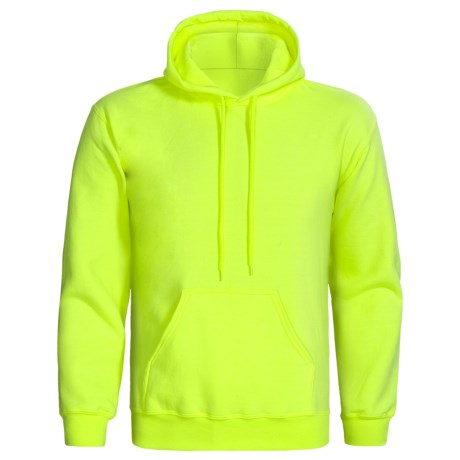 Gildan Ultra Blend Hoodie (For Men and Women) in Fluorescent Yellow