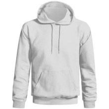 Gildan Ultra Blend Hoodie (For Men and Women) in White - 2nds