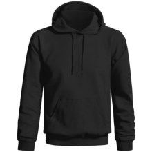 Gildan Ultra Blend Hoodie Sweatshirt (For Men and Women) in Black - 2nds