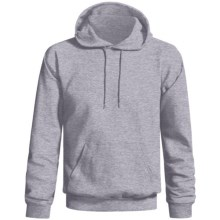 Gildan Ultra Blend Hoodie Sweatshirt (For Men and Women) in Grey Heather - 2nds