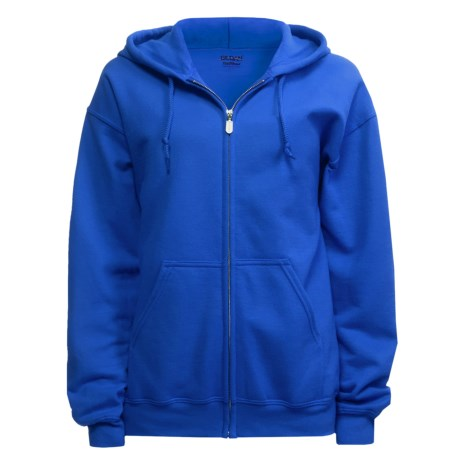 Gildan Zip Hoodie (For Men and Women) in Royal