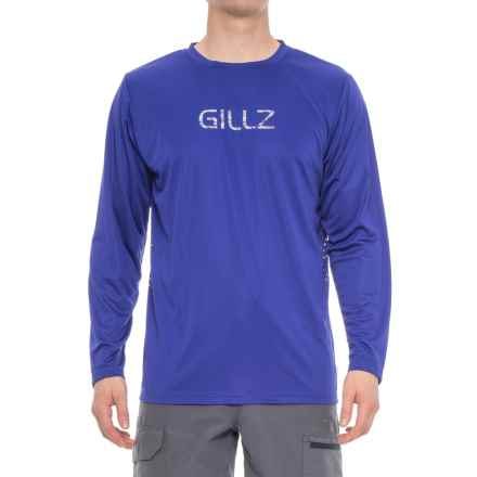 Gillz Contender Series Tech Shirt - UPF 50+, Long Sleeve (For Men) in Purple - Closeouts