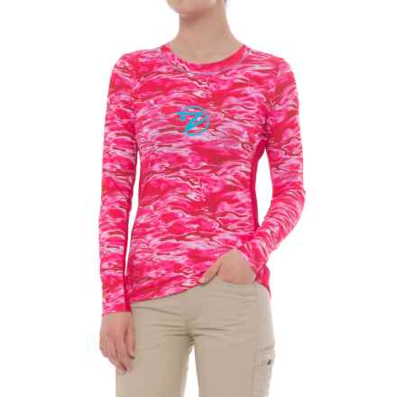 Gillz Pink Waters High-Performance Shirt - UPF 50+, Long Sleeve (For Women) in Pink Waters - Closeouts