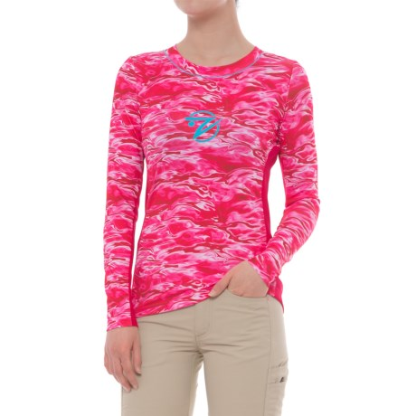 Gillz Pink Waters High-Performance Shirt - UPF 50+, Long Sleeve (For Women) in Pink Waters