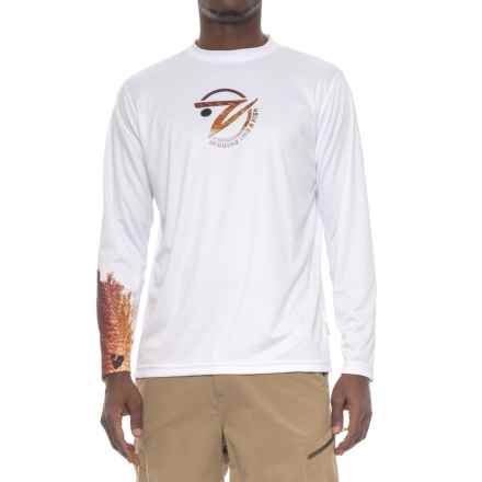 Gillz Redfish Sleeve-Graphic Shirt - Long Sleeve (For Men) in White - Closeouts