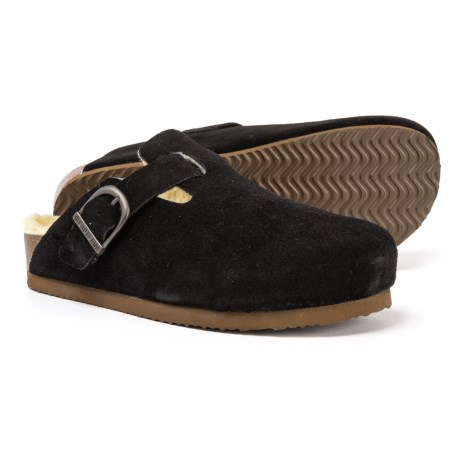 Image of Gina Shearling-Lined Clogs - Suede (For Women)