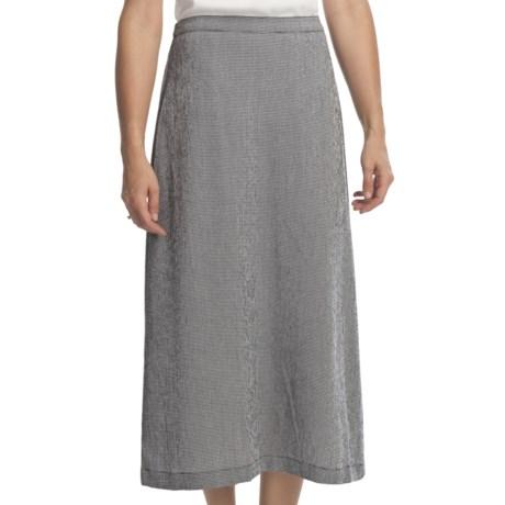 Gingham Check Skirt (For Women) in Black/White