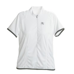 Giordana Cycling Jersey - Zip Neck, Short Sleeve (For Women) in White