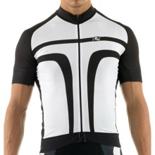 Giordana Forma Red Carbon Custom Trade Arco Cycling Jersey - Full Zip, Short Sleeve (For Men) in Black/White - Closeouts