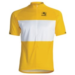 Giordana Leader Pro Cycling Jersey - Short Sleeve (For Men) in Yellow/White