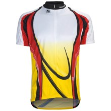 Giordana Semi-Custom GI-SC23 Cycling Jersey - Short Sleeve (For Men) in Red/Yellow - Closeouts