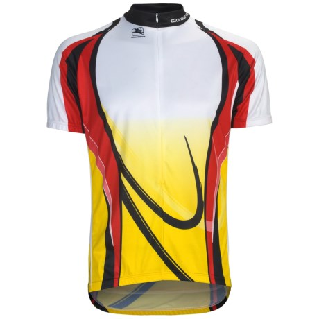 Giordana Semi-Custom GI-SC23 Cycling Jersey - Short Sleeve (For Men) in Red/Yellow