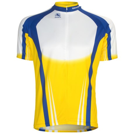 Giordana Semi-Custom GI-SC29 Cycling Jersey - Short Sleeve (For Men) in Yellow/Blue