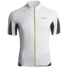 Giordana Tenax Cycling Jersey - Full-Zip, Short Sleeve (For Men) in White - Closeouts