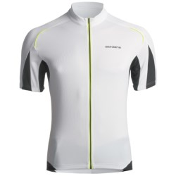 Giordana Tenax Cycling Jersey - Full-Zip, Short Sleeve (For Men) in White