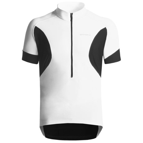 Giordana Tenax Cycling Jersey - Half-Zip, Short Sleeve (For Men) in White