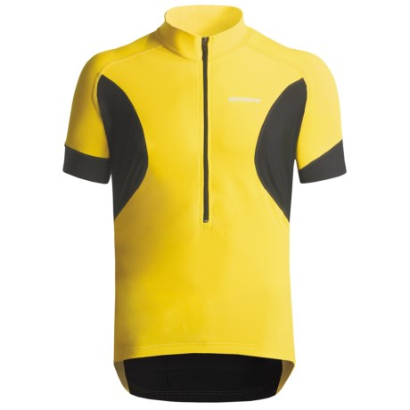 Giordana Tenax Cycling Jersey - Half-Zip, Short Sleeve (For Men) in Yellow