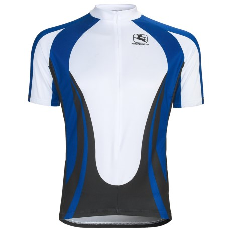 Giordana Terra Pro Cycling Jersey - Short Sleeve (For Men) in Terra/Blue