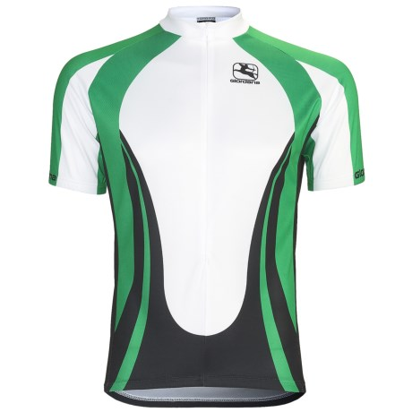 Giordana Terra Pro Cycling Jersey - Short Sleeve (For Men) in Terra/Green