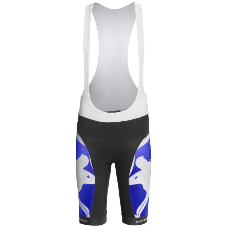 Giordana Trade Cycling Bib Shorts - UPF 50+ (For Men) in Blue/White