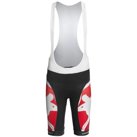 Giordana Trade Cycling Bib Shorts - UPF 50+ (For Men) in Red/White
