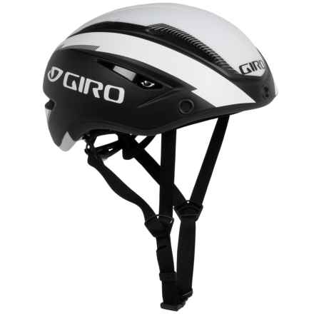 Giro Air Attack Shield Cycling Helmet (For Men and Women) in Matte Black/White - Closeouts
