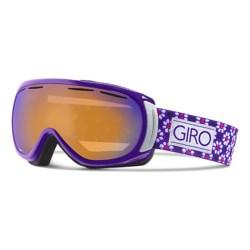 Giro Amulet Flash Ski Goggles (For Women) in Purple Mosiac/Persimmon Boost