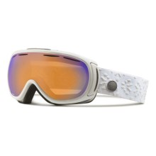 Giro Amulet Flash Ski Goggles (For Women) in White Laurel/Persimmon Boost - Closeouts