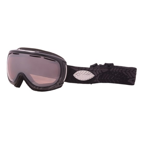 Giro Amulet Flash Snowsport Goggles (For Women) in Black Leaf/Rose Silver 30