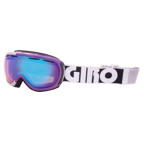 Giro Amulet Flash Snowsport Goggles (For Women) in Purple Color Block/Persimmon Boost 52