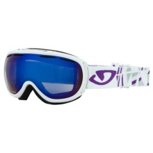 Giro Amulet Flash Snowsport Goggles (For Women) in White Tik/Grey Purple 25 - Closeouts