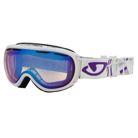 Giro Amulet Flash Snowsport Goggles (For Women) in White Tik/Persimmon Boost 57