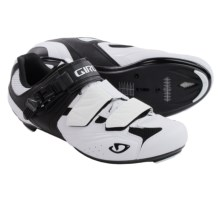 Giro Apeckx Road Cycling Shoes - 3-Hole (For Men) in Pure White/Black - Closeouts