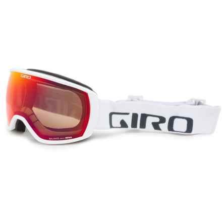 Giro Balance Ski Goggles in White/Wordmark/Amber Scarlet - Closeouts