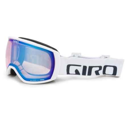 Giro Balance Ski Goggles in White Wordmark/Persimmon Boost - Closeouts