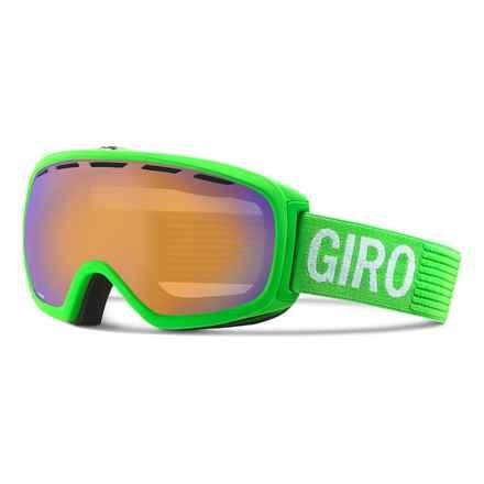 Giro Basis Flash Ski Goggle in Green Monotone/Persimmon Boost - Closeouts
