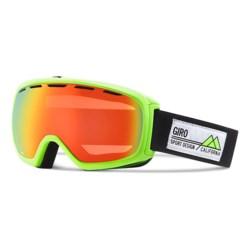 Giro Basis Flash Ski Goggle in Highlight Yellow Frame Pop/Persimmon Blaze