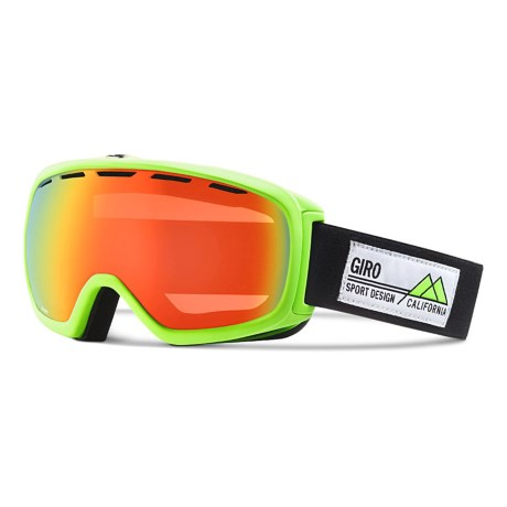 Giro Basis Flash Ski Goggle in Highlight Yellow Frame Pop/Persimmon Blaze