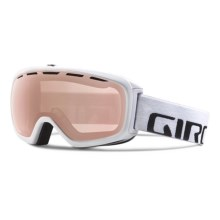 Giro Basis Flash Ski Goggle in White Wordmark/Rose Silver - Closeouts