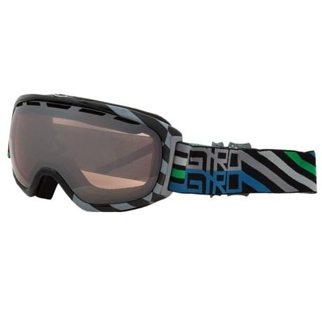 Giro Basis Flash Snowsport Goggle in Black Offset/Rose Silver