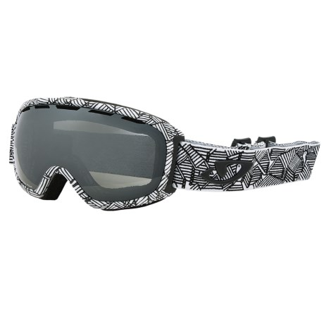 Giro Basis Flash Snowsport Goggle in White Roofs/Black Limo