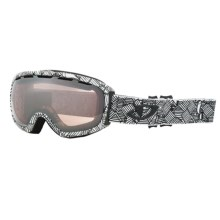 Giro Basis Flash Snowsport Goggle in White Roofs/Rose Silver 30 - Closeouts