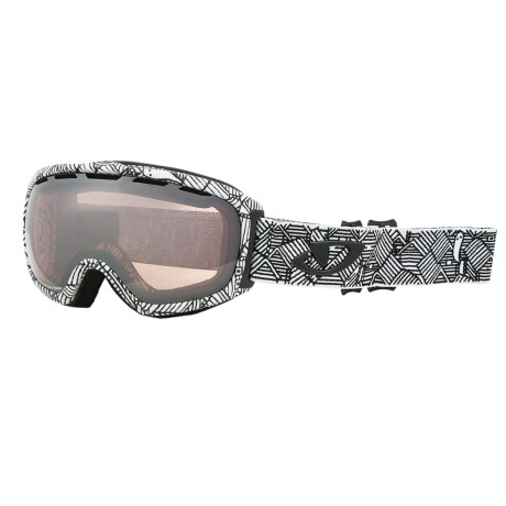 Giro Basis Flash Snowsport Goggle in White Roofs/Rose Silver