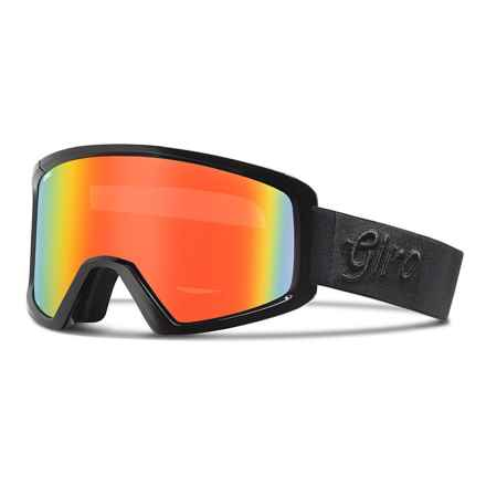 Giro Blok Flash Ski Goggles in Black Gameday/Persimmon Blaze - Closeouts