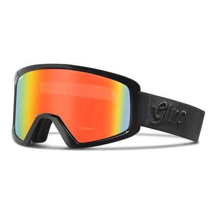 Giro Blok Flash Ski Goggles in Black Gameday/Persimmon Blaze - Closeouts