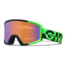 Giro Blok Flash Ski Goggles in Bright Green 50-50/Persimmon Boost - Closeouts