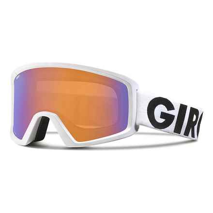 Giro Blok Flash Ski Goggles in White Futura/Persimmon Boost - Closeouts