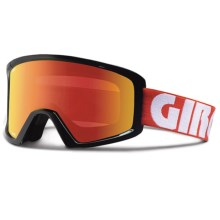 Giro Blok Flash Snowsport Goggles in Red Color Block/Amber Scarlet - Closeouts